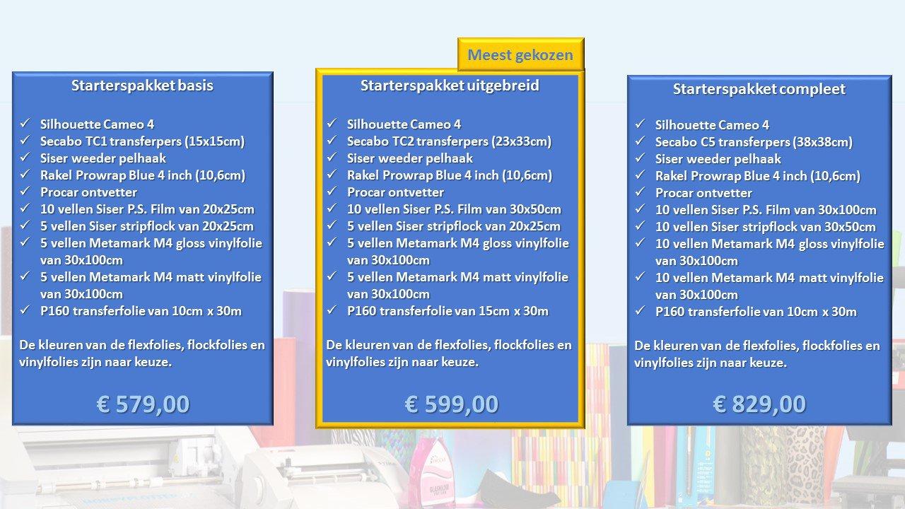 Starterspakketten vergelijking